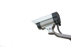 Caméra de sécurité sur un fond blanc Images stock