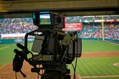 Caméra de télévision Photographie stock