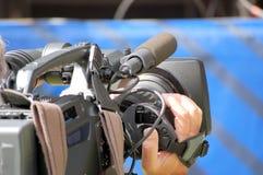 Caméra de télévision Photographie stock libre de droits