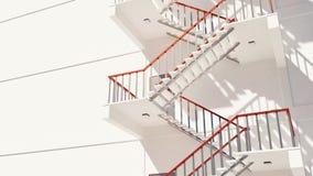 Caméra panoramiquant avec l'escalier sans fin du feu banque de vidéos