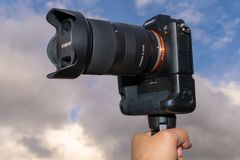 Caméra Sony Alpha a7rII Mirrorless photo libre de droits