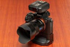 Caméra Sony Alpha a7rII Mirrorless photo stock