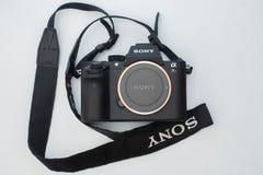 Caméra Sony Alpha a7rII Mirrorless images stock