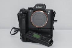 Caméra Sony Alpha a7rII Mirrorless photographie stock