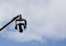 Caméra vidéo au-dessus du ciel. photographie stock libre de droits