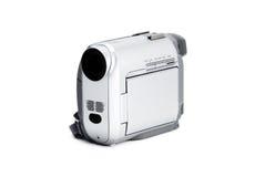 Caméra vidéo compacte d'isolement au-dessus du blanc Image libre de droits