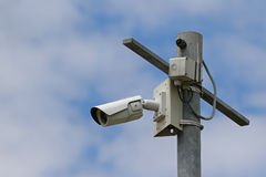 Caméra vidéo de télévision en circuit fermé Photos libres de droits