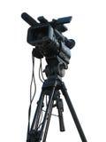 Caméra vidéo digitale de studio professionnel de TV Images libres de droits
