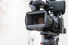 Caméra vidéo digitale professionnelle Image libre de droits