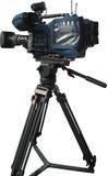 Caméra vidéo digitale professionnelle de TV sur le trépied Photo libre de droits