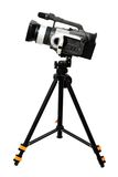 Caméra vidéo sur le trépied Image libre de droits