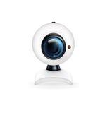 Caméra web sur le blanc illustration stock