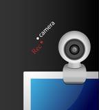 Caméra web sur le moniteur Photographie stock libre de droits