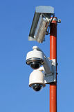 Caméras de sécurité pour la sécurité des citoyens images libres de droits