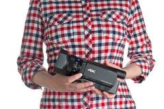 Caméscope de Sony FDR AX100 4k UHD Handycam Images libres de droits