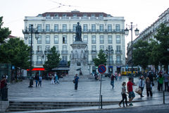 Camões Square (Largo Camões), Downtown Lisbon (Lisboa), Portugal Stock Photo