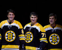 Cam Neely, Ray Bourque and Bobby Orr. Royalty Free Stock Image
