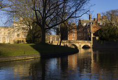 Cam river in Cambridge Royalty Free Stock Image