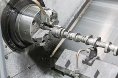 Cam shaft cnc turning Royalty Free Stock Image