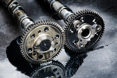 Cam shaft of a turbo diesel engine Stock Photos