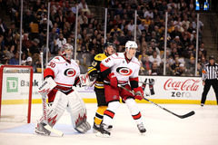 Cam Ward Brad Marchand and Bryan Allen Stock Photography