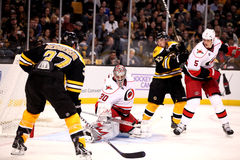 Cam Ward makes a save. Royalty Free Stock Photography