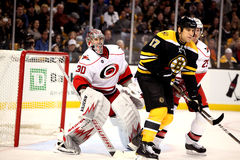 Cam Ward and Milan Lucic Stock Images