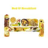 Cama & pequeno almoço Fotografia de Stock Royalty Free
