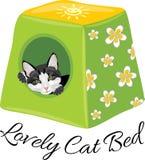 Cama bonita do gato Fotografia de Stock Royalty Free