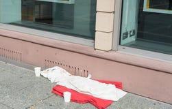 Cama casera sin hogar Imágenes de archivo libres de regalías