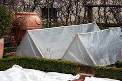 Cama cubierta del jardín Foto de archivo