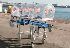 Cama da ambulância para o vírus ou o alarme nuclear Imagem de Stock Royalty Free