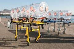 Cama da ambulância para o vírus ou o alarme nuclear Fotos de Stock