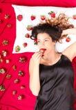 Cama da morango Fotos de Stock