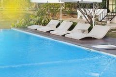 Cama da piscina Foto de Stock