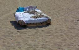 A cama da propagação Fotografia de Stock