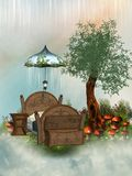 Cama de hadas Foto de archivo libre de regalías