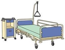 Cama de hospital ilustração royalty free