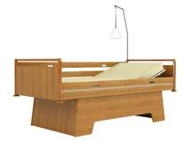 Cama de hospital móvil de madera Fotos de archivo