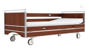 Cama de hospital móvil de madera Fotos de archivo libres de regalías