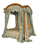Cama de la cama imperial con aislado con la trayectoria del clip Fotos de archivo