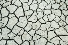 Cama de lago agrietada seca foto de archivo