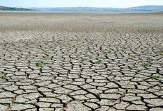 Cama de lago drought - calentamiento del planeta Fotos de archivo