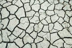 Cama de lago rachada seca foto de stock