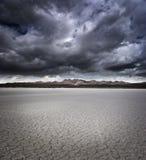 Cama de lago seco Imagens de Stock