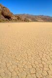 Cama de lago seco en Death Valley CA Foto de archivo libre de regalías