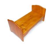 Cama de madeira caseiro do brinquedo Fotografia de Stock