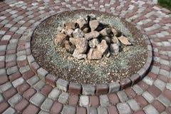 Cama de pedra Foto de Stock