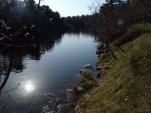 Cama de río en el parque de Ludington imágenes de archivo libres de regalías