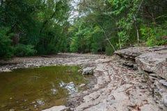 Cama de río seca Foto de archivo